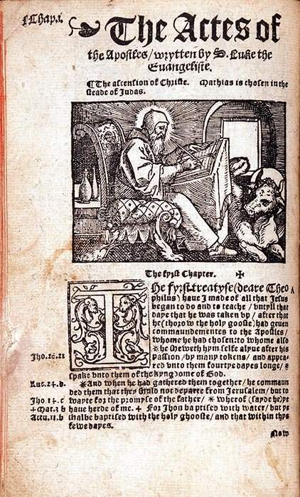 The New Testament of oure Sauyour Iesu Christ … [Antwerp]: Matthew Crom, 1538. RBP NT English 1538