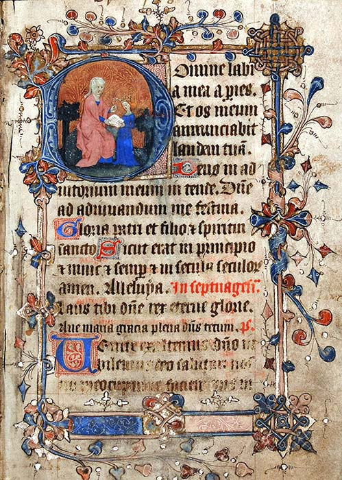 A composite Book of Hours, in Latin. Southern Netherlands and England, fifteenth century. Reed MS5