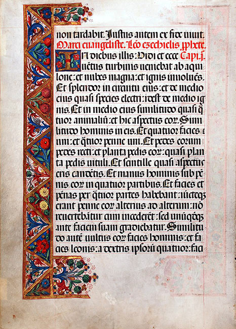 Lectionary, in Latin. Spain (perhaps Toledo), ca. 1500. Reed MSF62