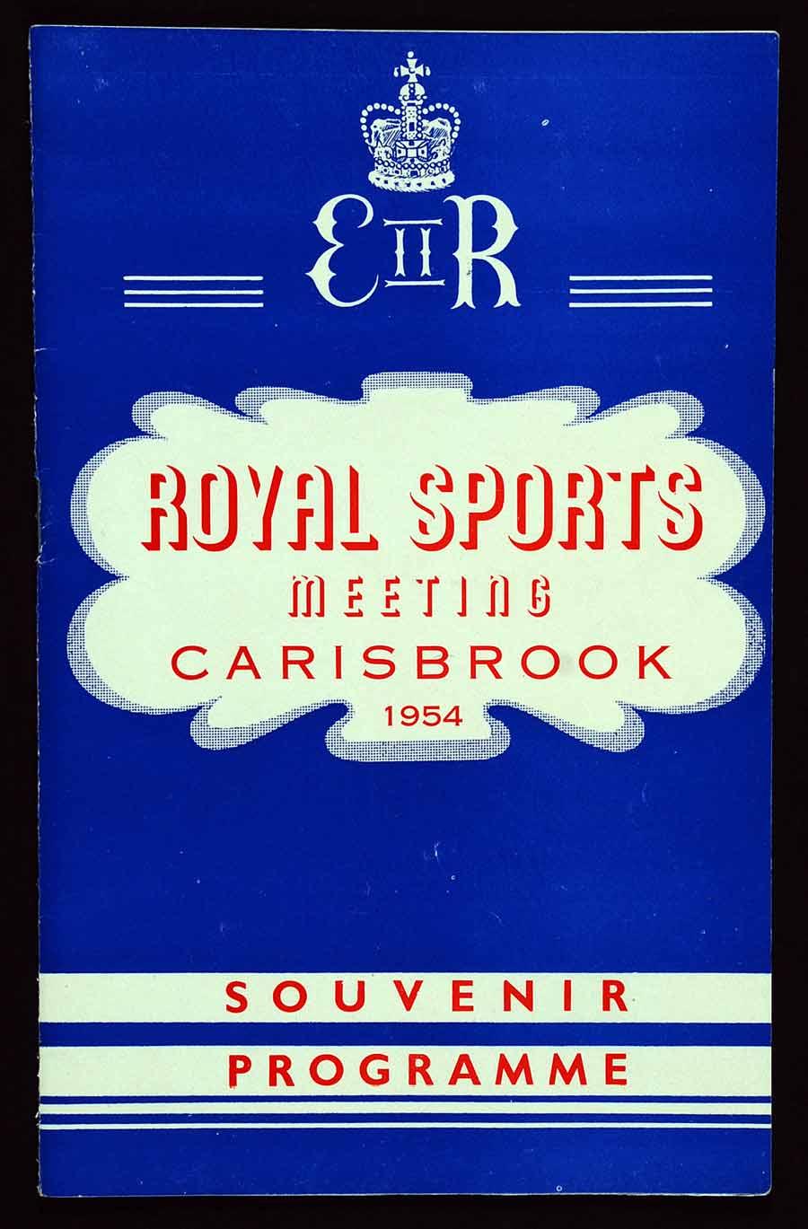 Souvenir programme; royal sports meeting Carisbrook 1954. Dunedin: Printed by Stewart Smith & Hall, [1954].