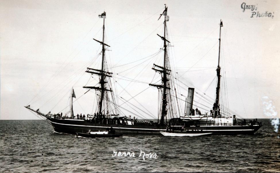 Postcard (copy). The <i>Terra Nova</i>a, ca. 1910.