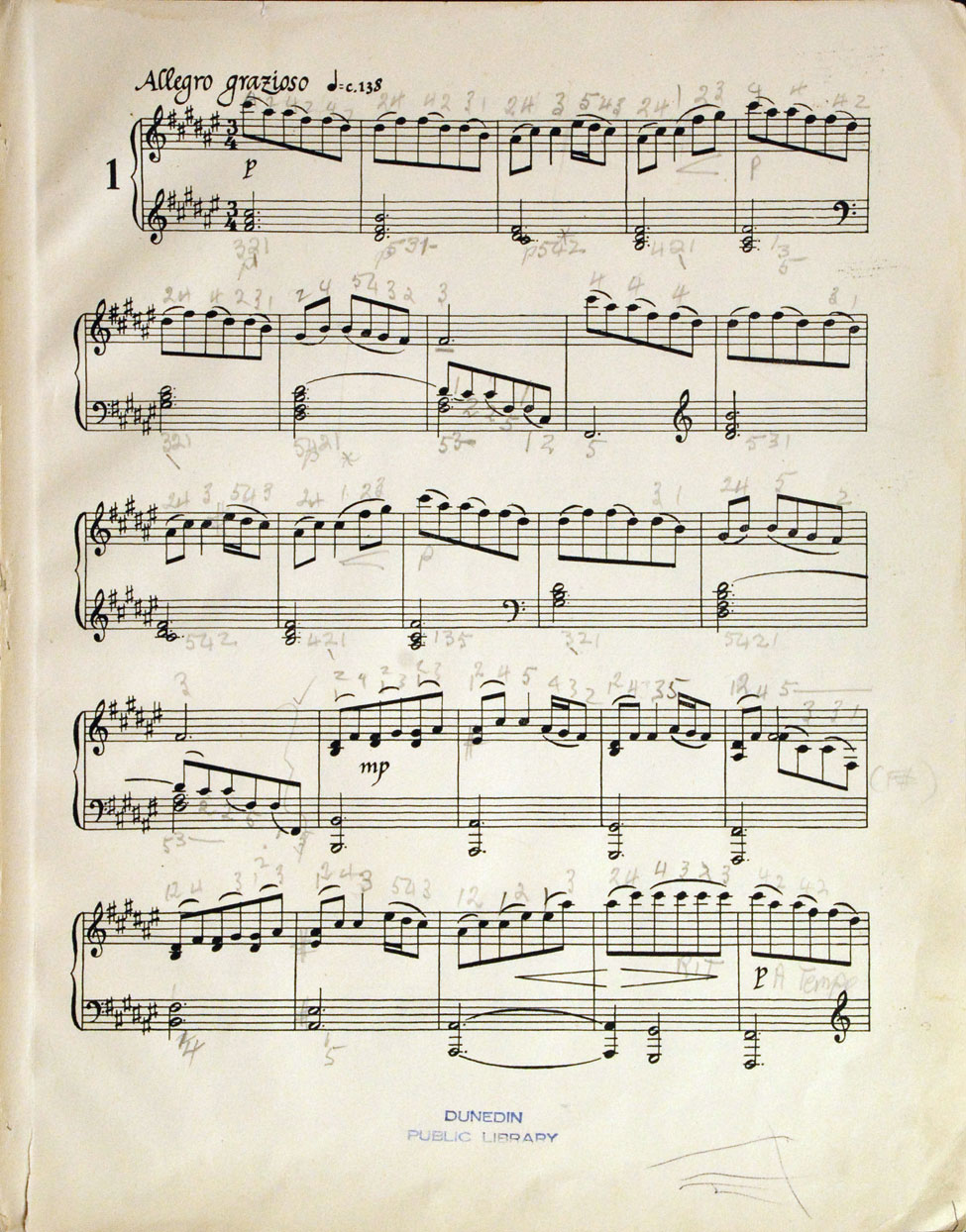 Douglas Lilburn. Four Preludes for Piano. <i>Christchurch: The Caxton Press, 1945.</i>