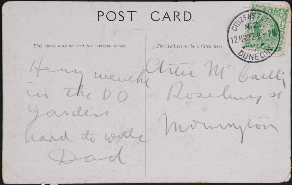Postcard Posted at the Citizens Fête
