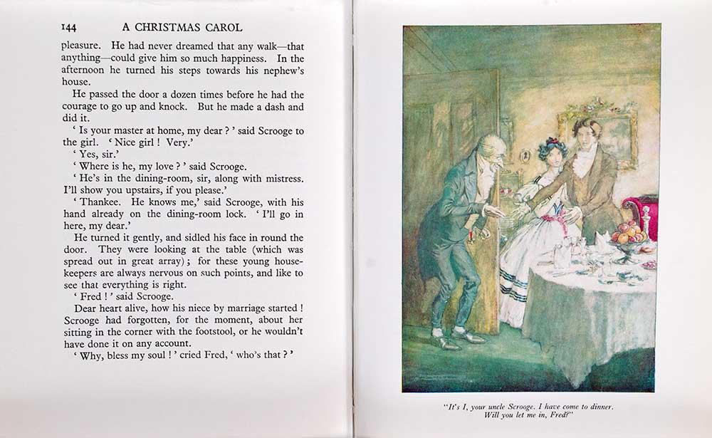 Charles Dickens. <em>A Christmas carol.</em> Illustrated by Arthur Rackham. London: Heinemann, 1972.