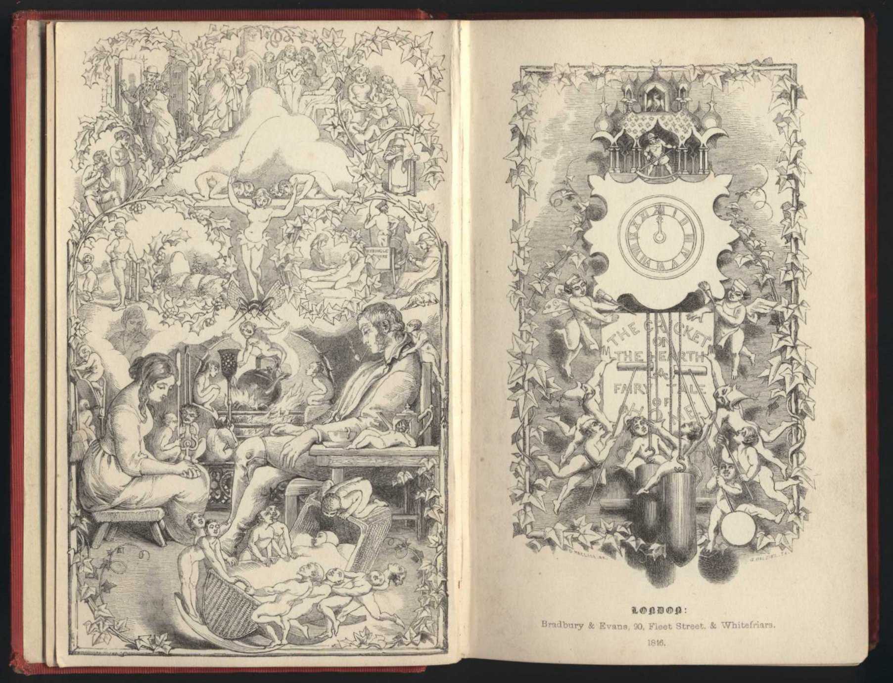 Charles Dickens. The cricket on the hearth: a fairy tale of home. London: Bradbury and Evans, 1846.