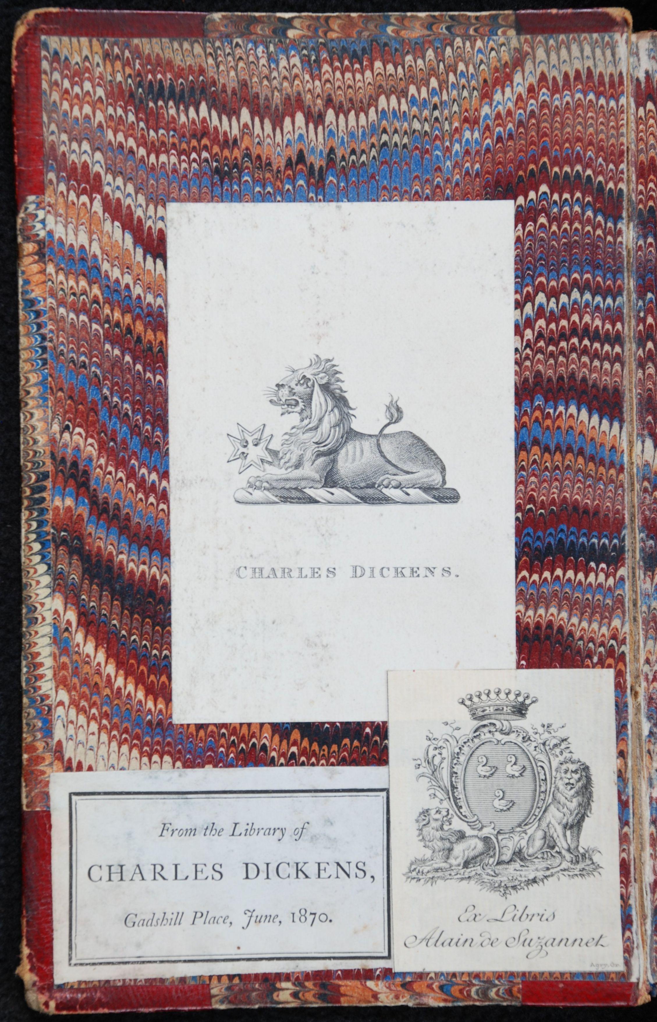 Charles Dickens. Le magasin d'antiquites. Paris: Libraire de L. Hachette et Cie., 1857. Two volumes; Vol. 1 displayed.