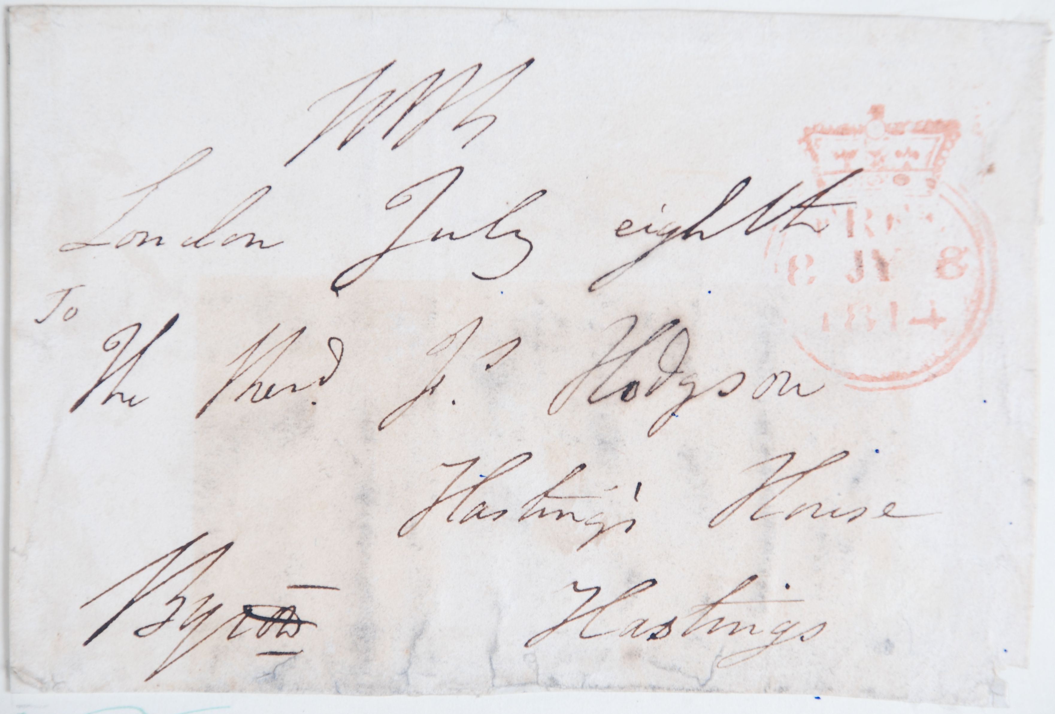 Reed Autograph Letters Album B3, no. 8: Lord Byron.