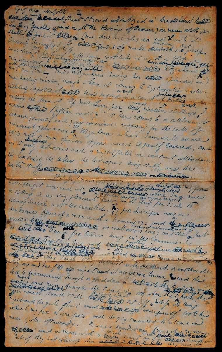 Manuscript fragment of Dickens's short story Mrs. Lirriper's Lodgings, [undated]