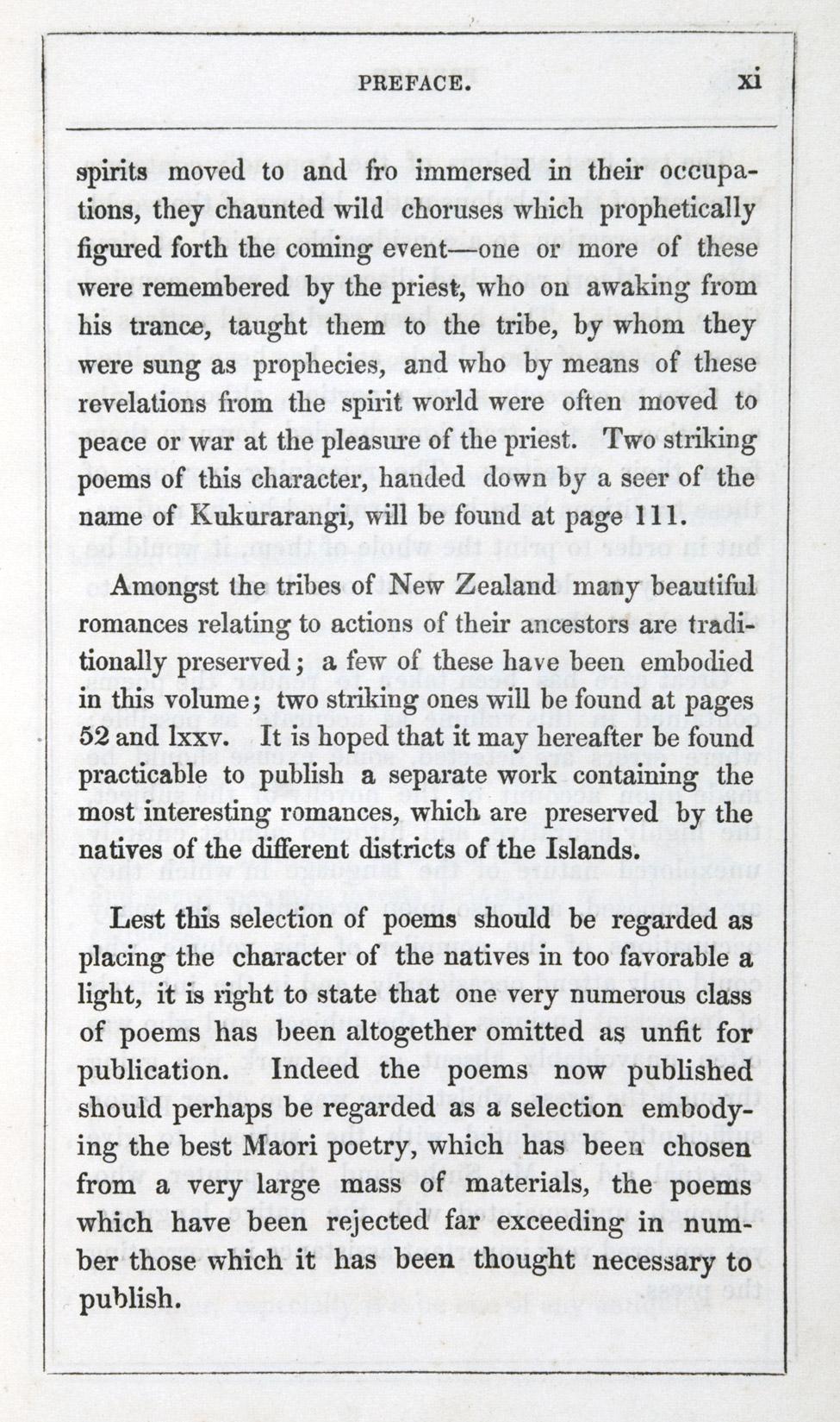 Sir George Grey. <i>Ko nga moteatea, me nga hakirara o nga Maori. </i> Wellington: Printed by Robert Stokes, 1853.