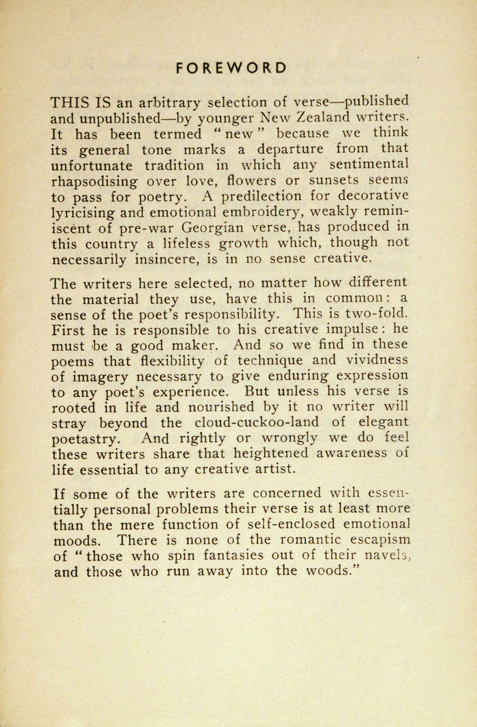 New Poems: Selected by Ian Milner and Denis Glover. <i>Christchurch: The Caxton Club Press, 1934.</i>