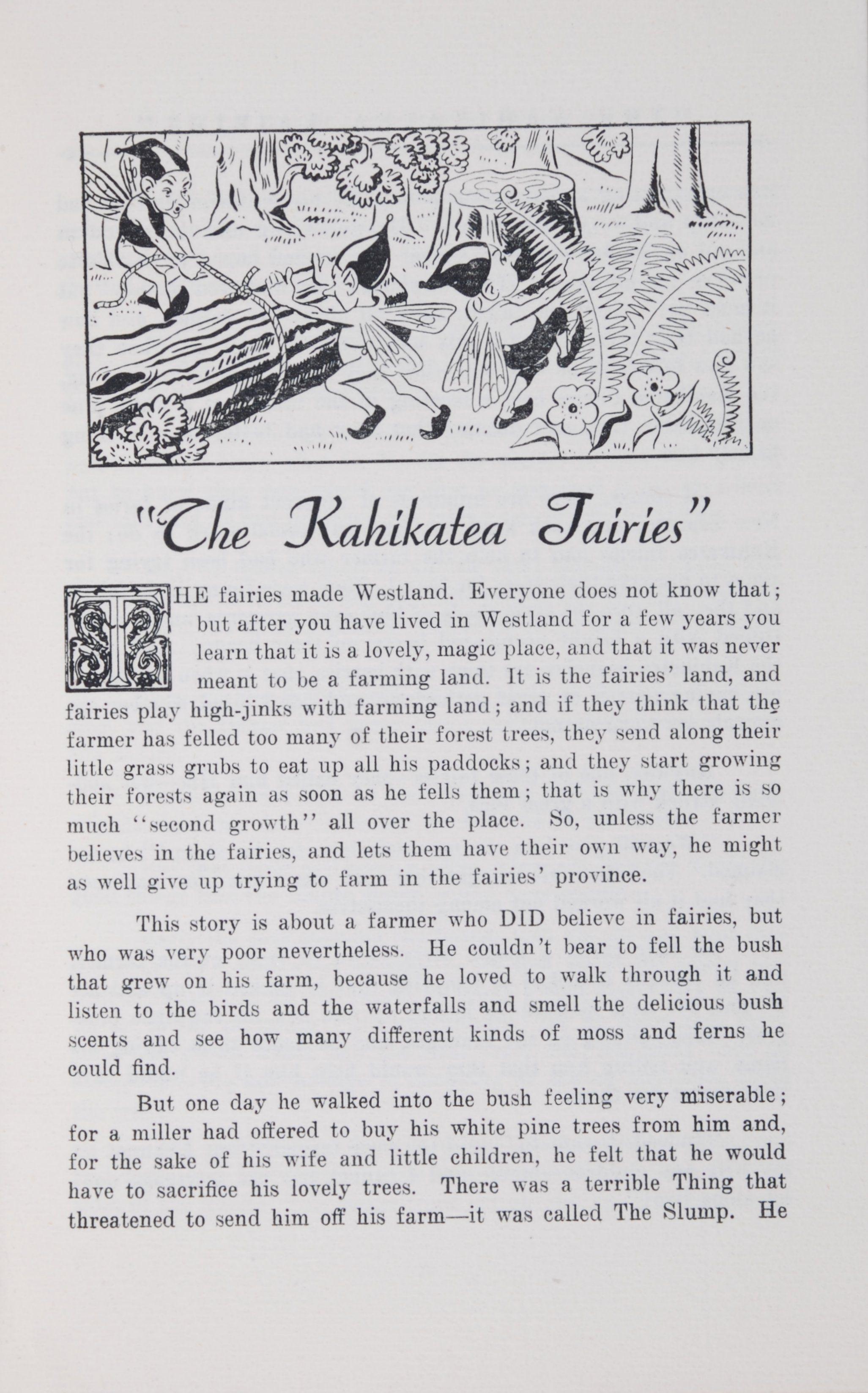 Norah M. Simpson. Fairy tales of Westland. [Greymouth, N.Z.: Greymouth Evening Star Co., 1934?]