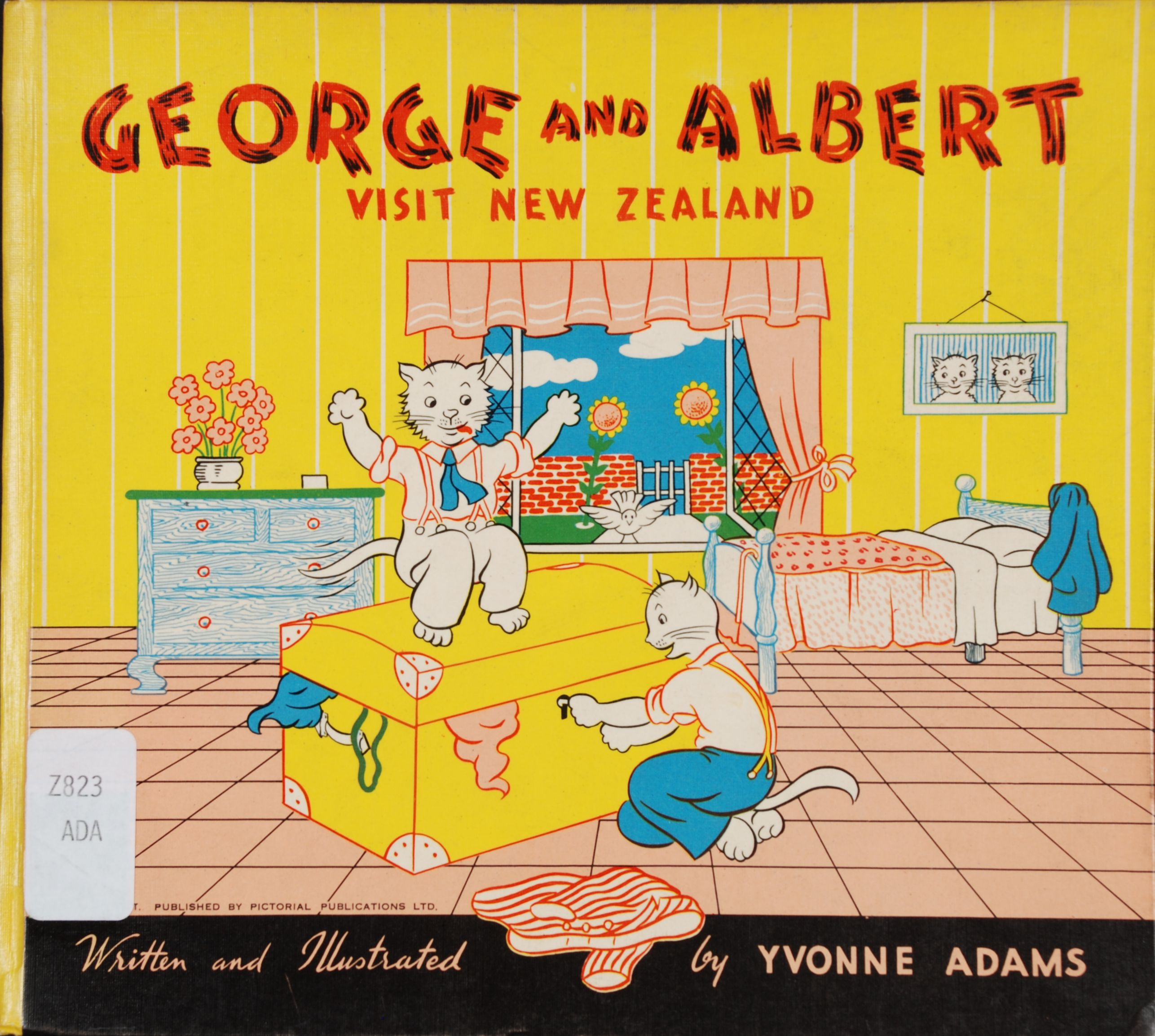 Yvonne Adams. George and Albert Snowywhiskers pay a visit to New Zealand. Hastings, N.Z.: Pictorial Publications, [1952].