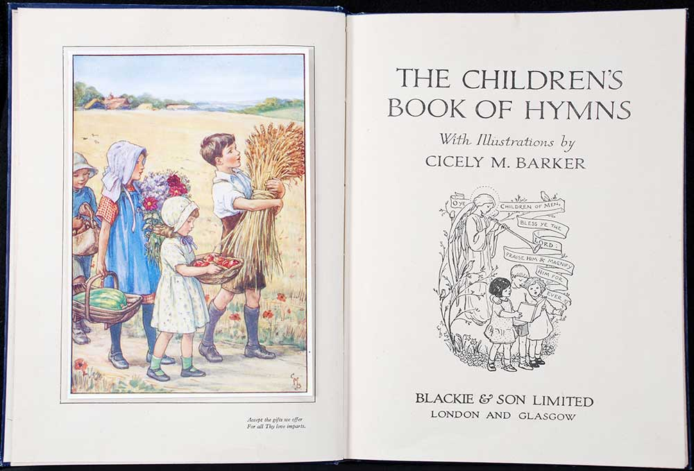 <em>The children's book of hymns.</em> Illustrated by Cicely Mary Barker. London: Blackie & Son, [1929]