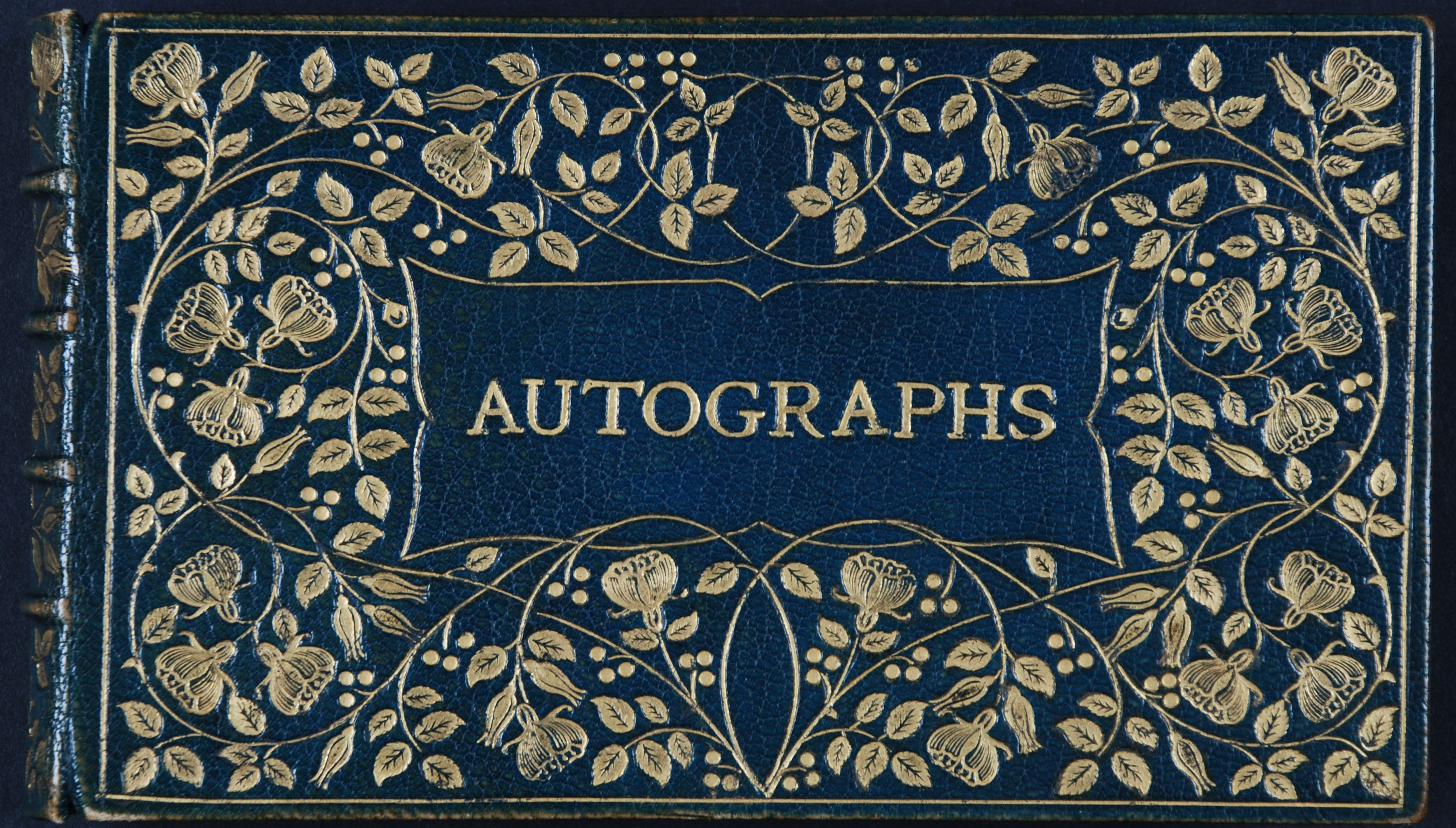 Autographs: collected by M.E. Joachim.