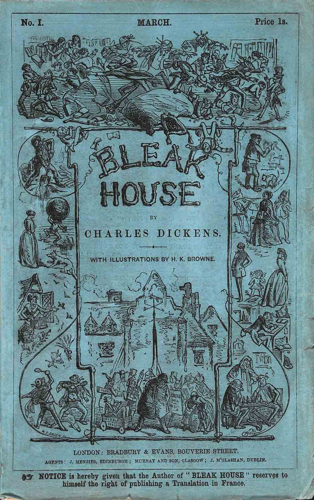 Bleak House … with Illustrations by H. K. Browne. 20 numbers in 19 monthly parts. London: Bradbury & Evans, 1852–1853