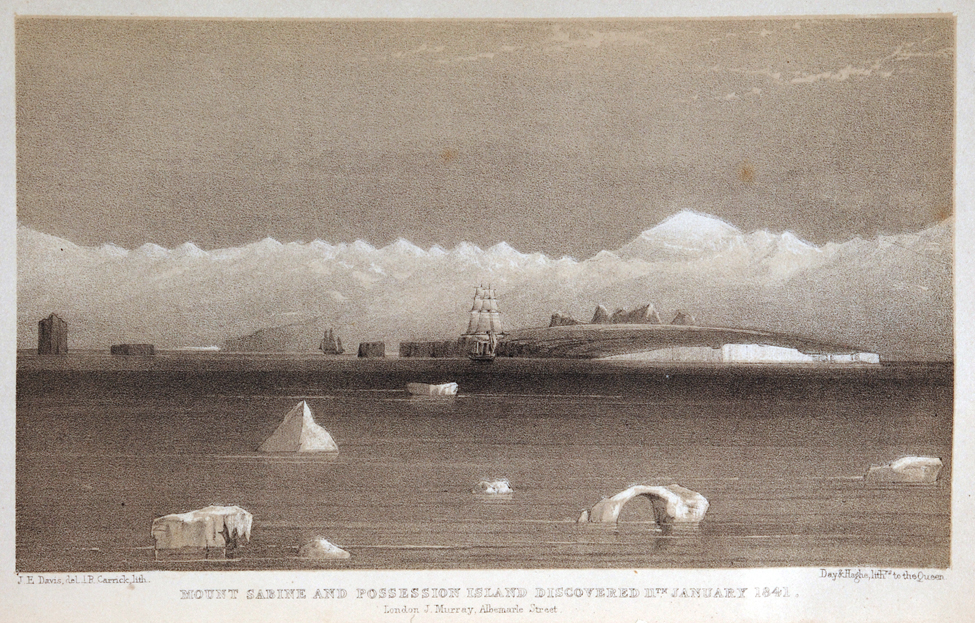 Sir James Clark Ross. A Voyage of Discovery and Research in the Southern and Antarctic Regions, During the Years 1839–43. London: John Murray, 1847