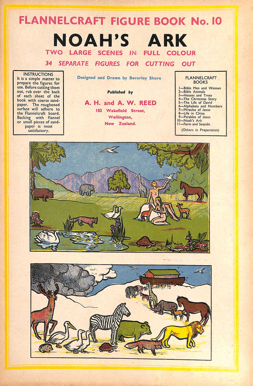 Beverley Shore. <em>Flannelcraft figure book, no. 10. Noah's ark.</em> Wellington: A.H. & A.W. Reed, [1949?]