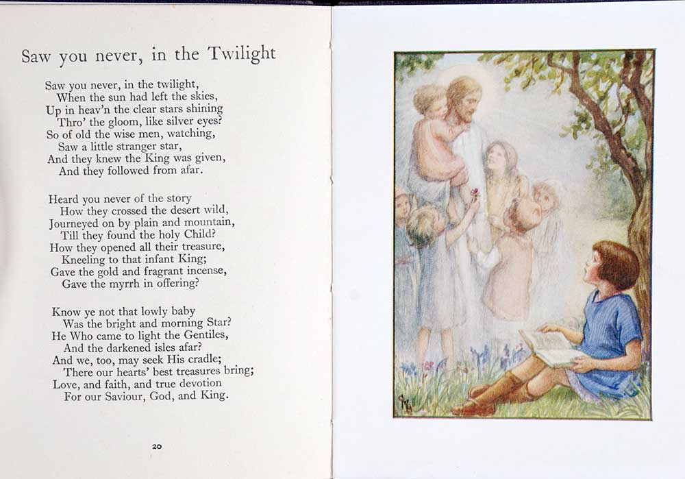 <em>The little picture hymn book.</em> Illustrated by Cicely Mary Barker. London: Blackie & Son, [1933]