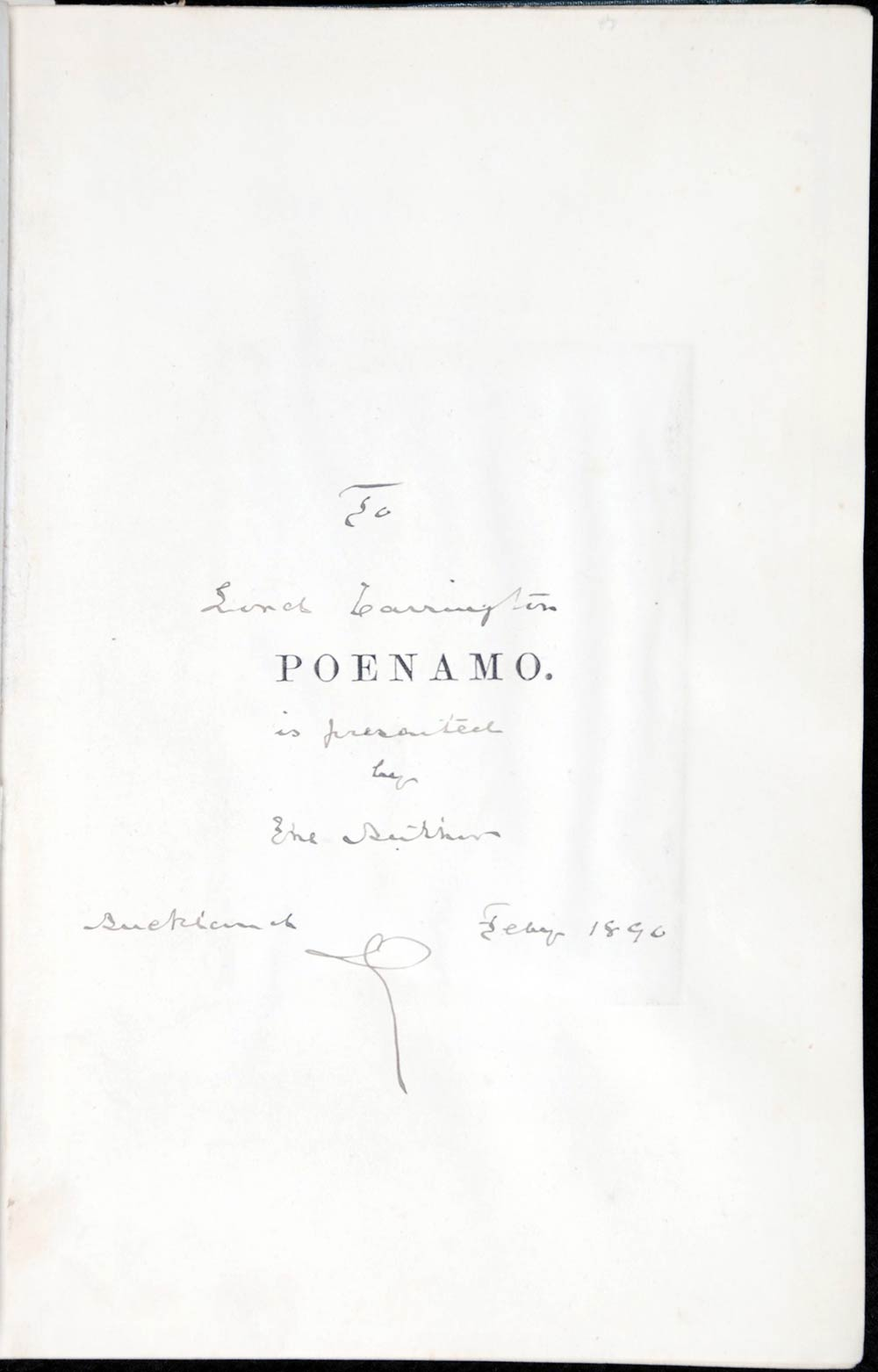 John Logan Campbell. <em>Poenamo: sketches of the early days of New Zealand: romance and reality of antipodean life in the infancy of a new colony.</em> London: Williams and Norgate, 1881.