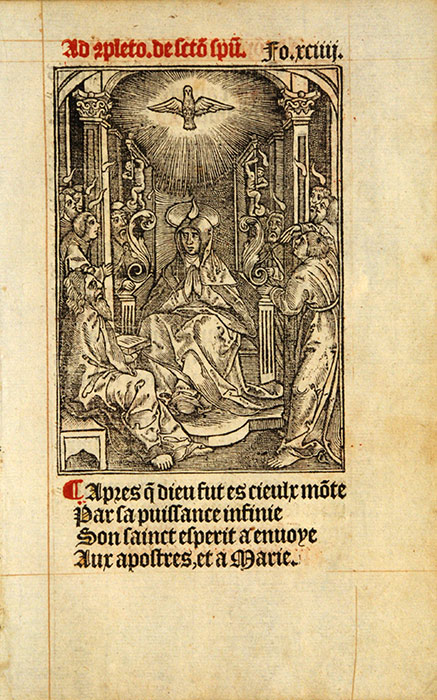 Leaf from a Book of Hours, in French. Paris: Printed by Thielman Kerver, 1544. RPRF Fra. 1544/10