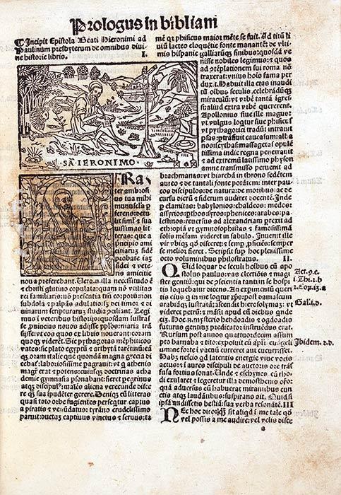 Biblia cum tabula nuper impressa [et] cum summariis nouiter editis. Venice: Simon Bevilaqua, 8 May 1498. RBP Bible Latin 1498