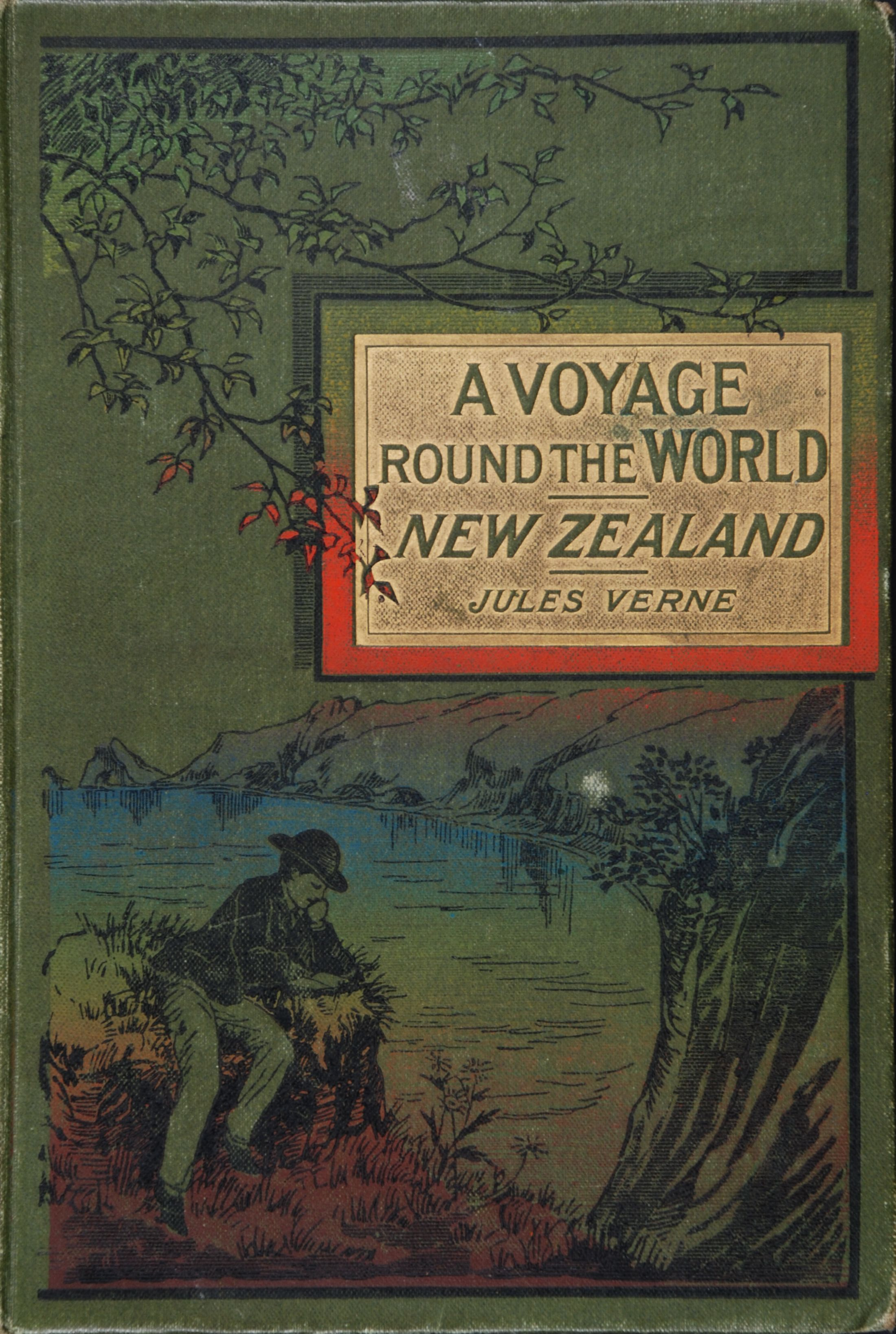 Jules Verne. A voyage round the world. New Zealand. London: Routledge, [1876?].