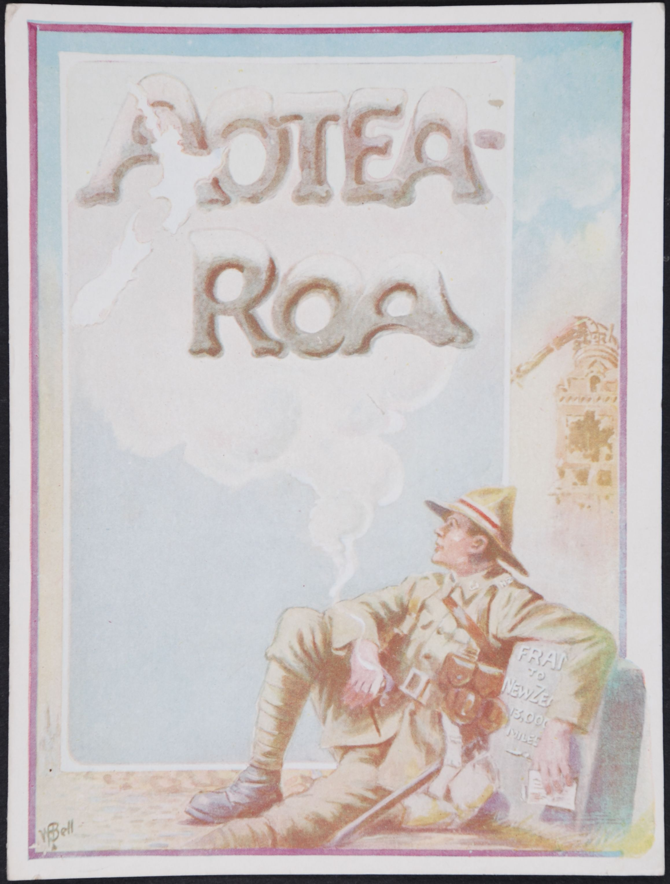 William Frederick Bell. Aotearoa. Christmas Card. 1917