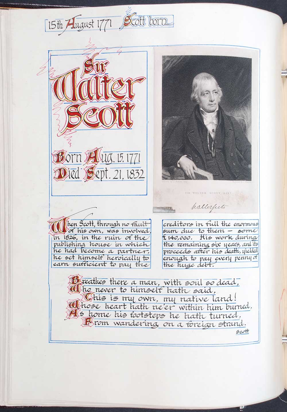 Reed Autograph Letters Album A, no. 46: Sir Walter Scott