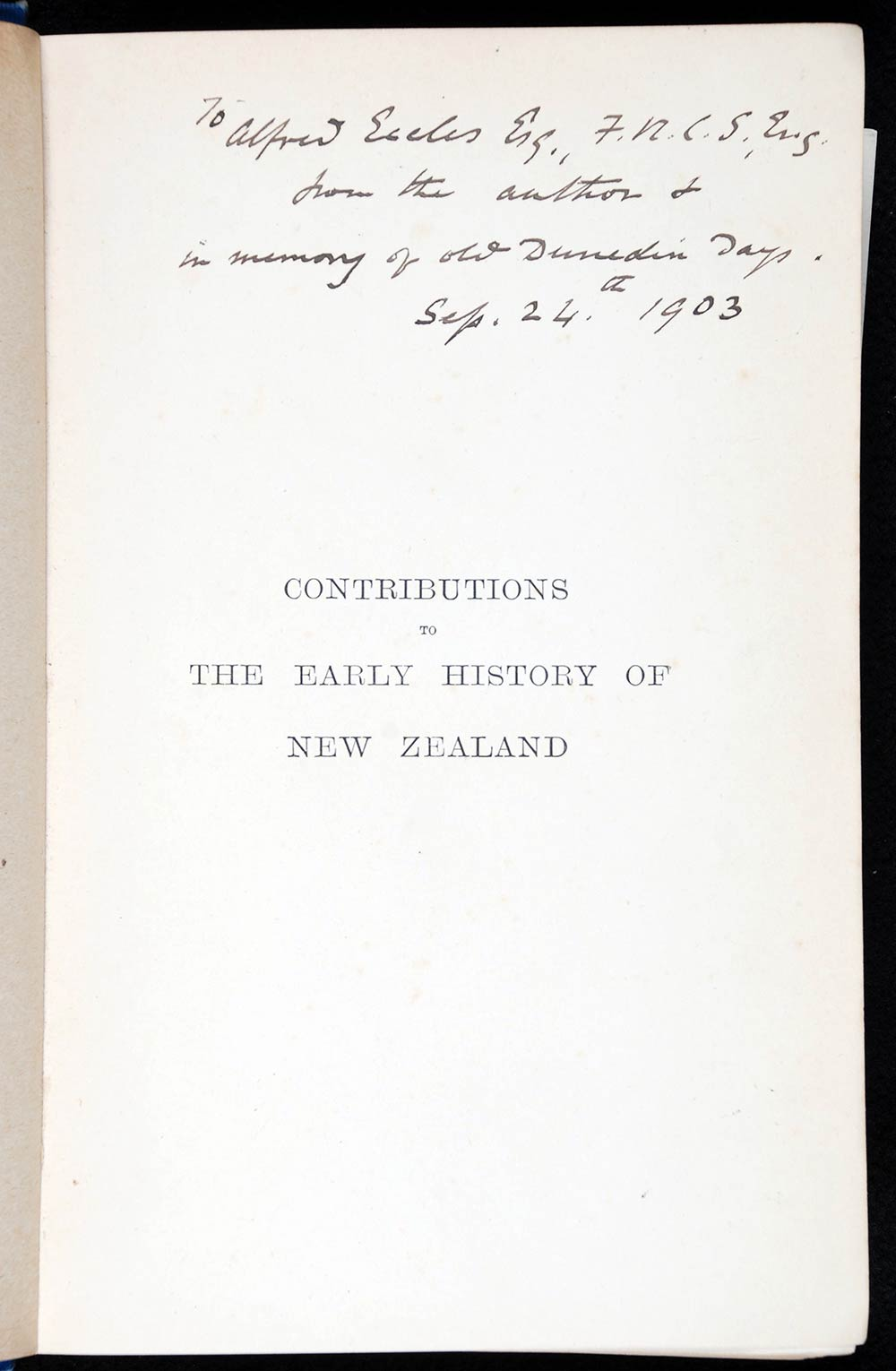 Thomas Morland Hocken. <em>Contributions to the early history of New Zealand (Settlement of Otago).</em> London: Sampson Low, Marston and Co., 1898.