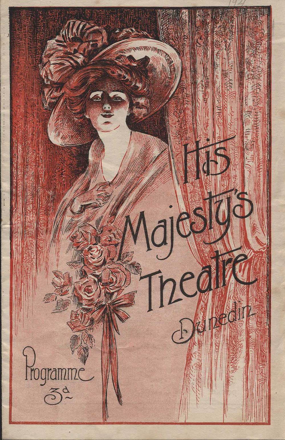 <em>The Cingalee</em>. Book by James T. Tanner; lyrics by Adrian Ross and Percy Greenbank; music by Lionel Monckton. (Dunedin Operatic & Dramatic Society). His Majesty's Theatre, Dunedin, April 30, 1921.