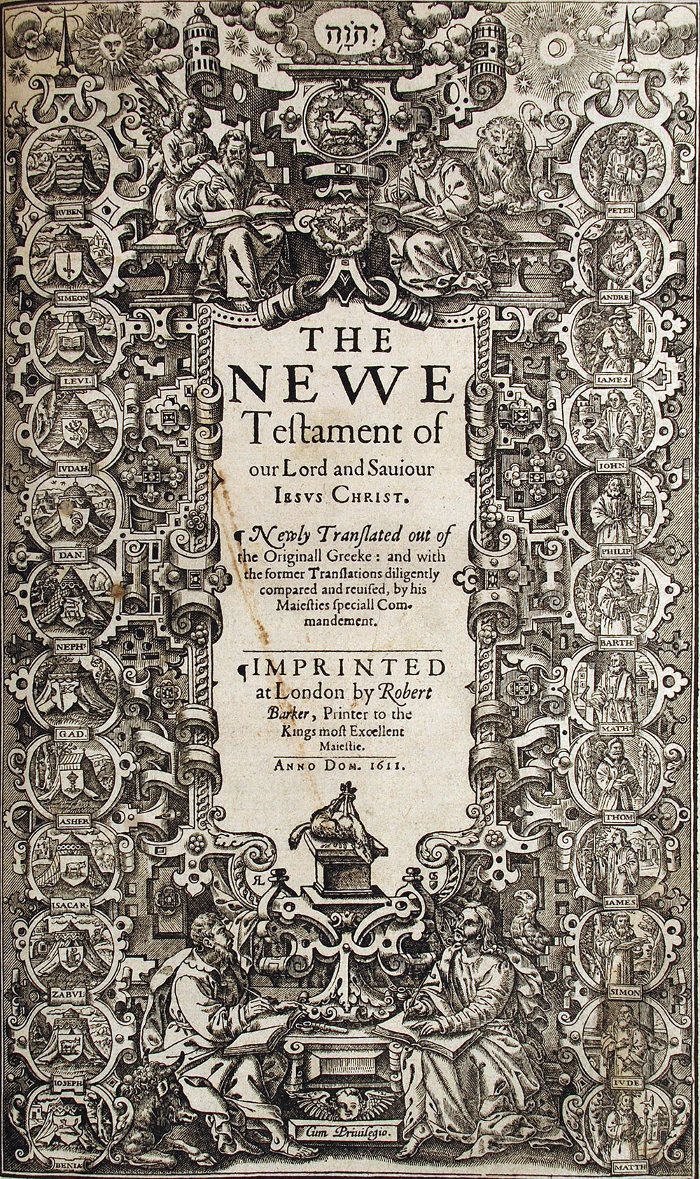 [King James Bible, English]. <em>The Holy Bible conteyning the Old Testament and the New: newly translated out of the originall tongues: & with the former translations diligently compared and reuised by his Maiesties speciall comandement …</em> London: Robert Barker, 1611.