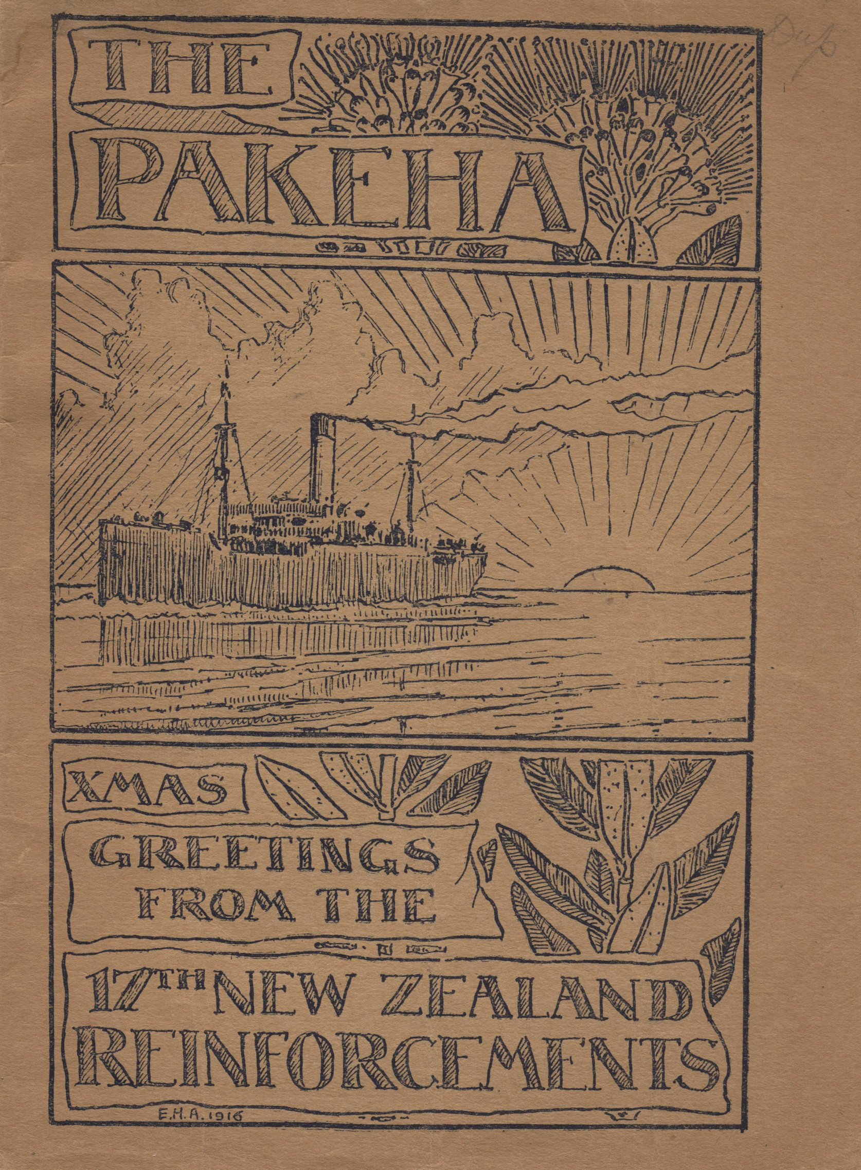 The Pakeha: Christmas Greetings from the 17th New Zealand Reinforcements.