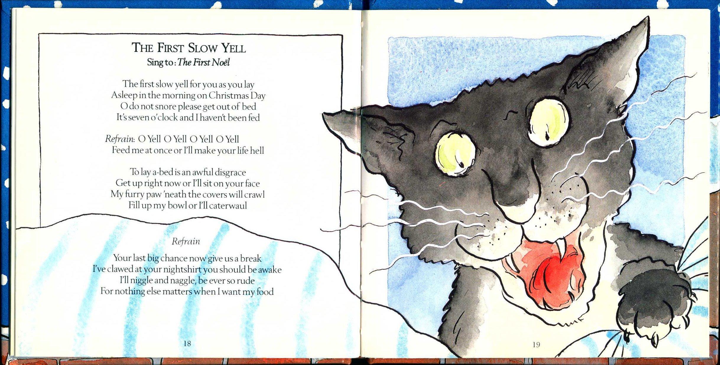 Julie and John Hope. Christmas carols for cats. Illustrations by Sue Hellard. London: Bantam, 1996.