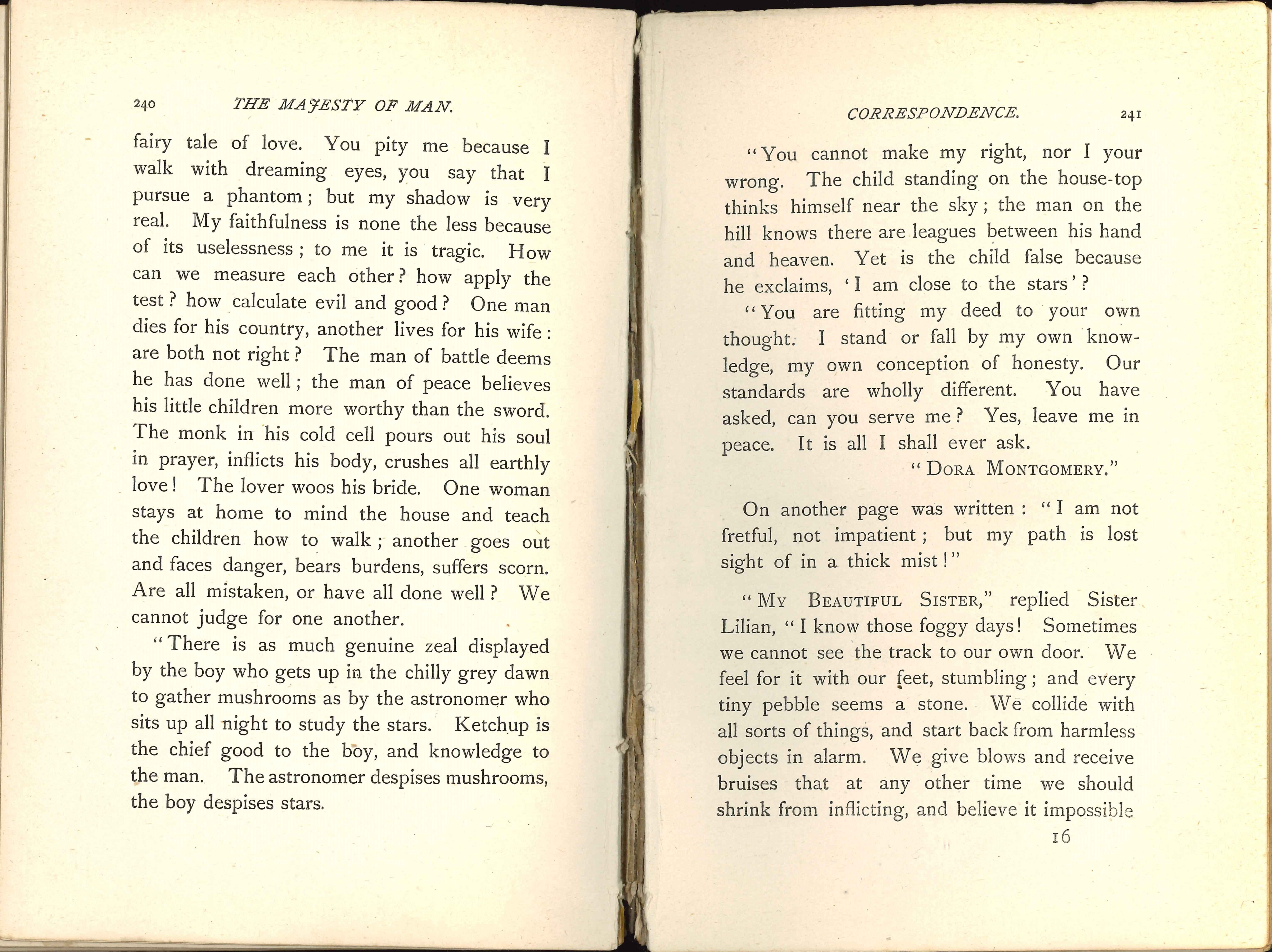 Alien. The majesty of man. London: Hutchinson, 1895.