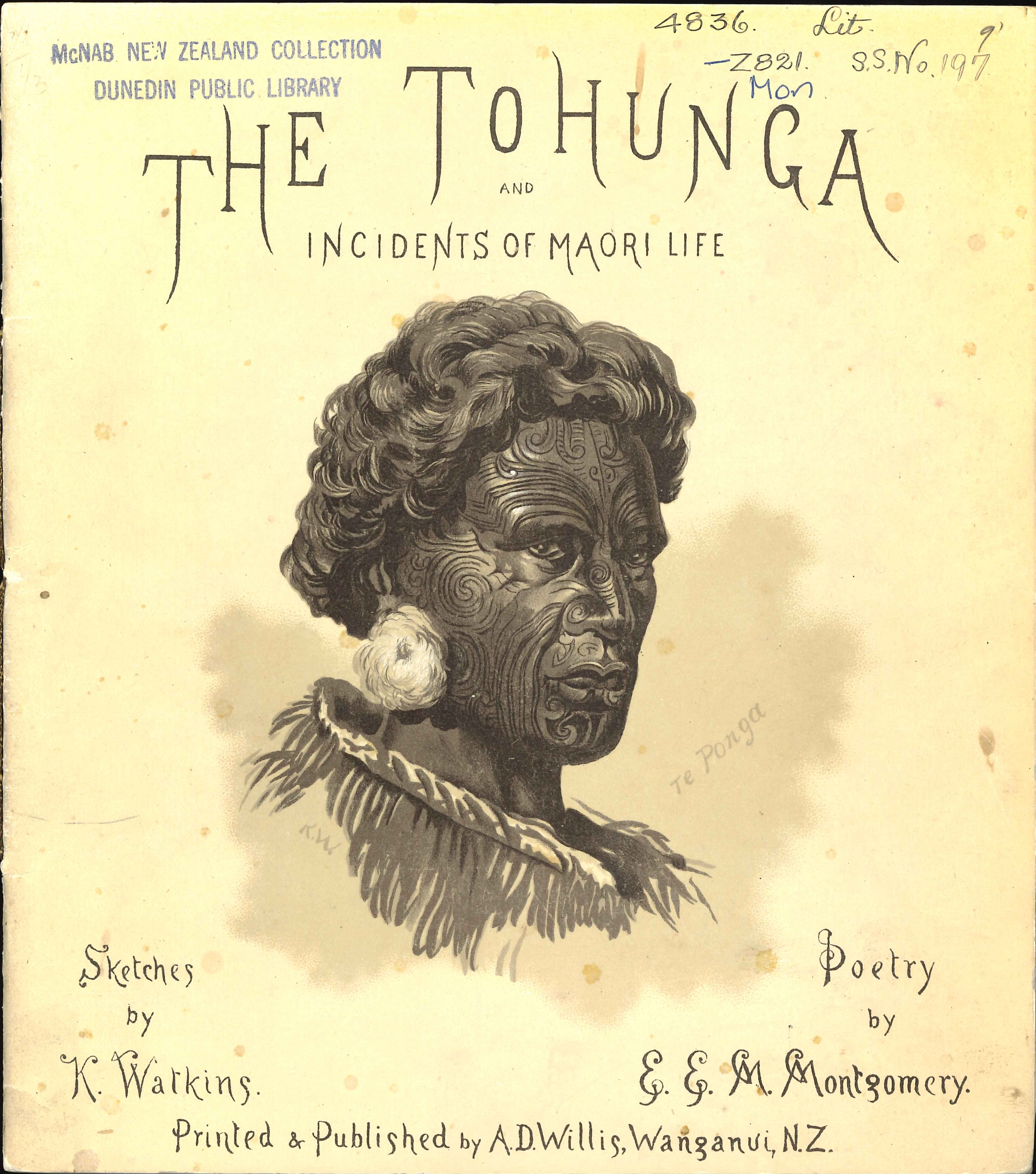 E.E.M. Montgomery. The tohunga, and incidents of Māori life. Illustrations by George Sherriff. Wanganui: A.D. Willis, 1896.