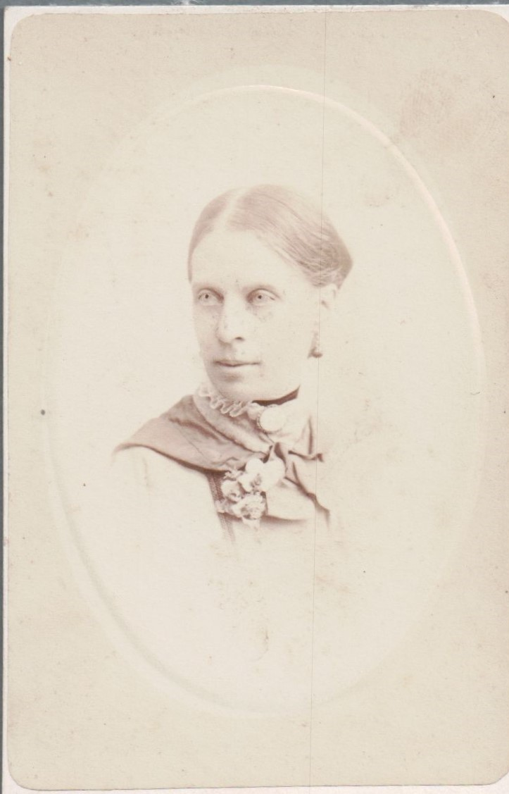 [Two photographs of Emily Cumming Harris]. 1881.