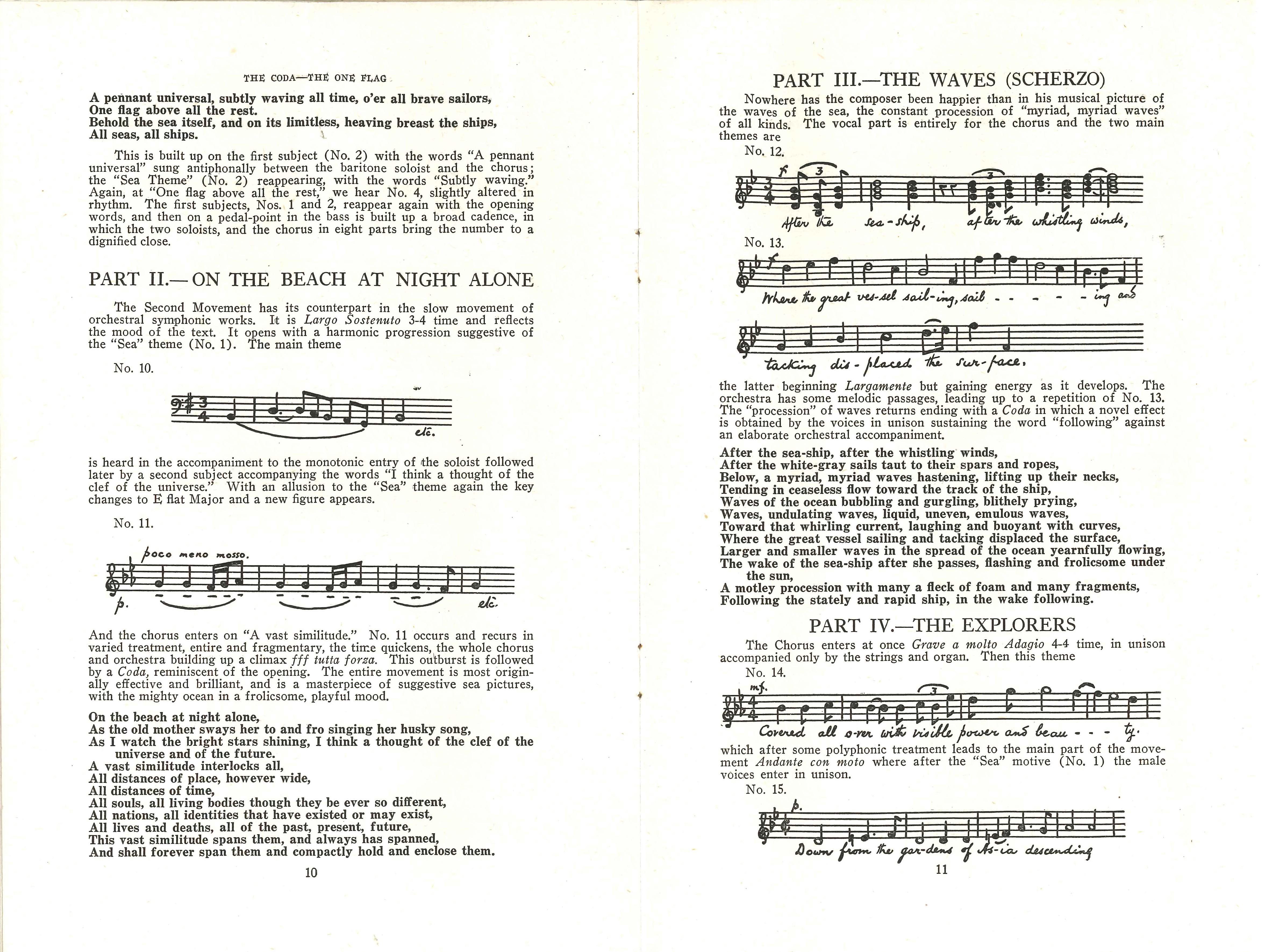 The Toronto Mendelssohn Choir, H.A. Fricker, Conductor: Twenty Fourth Season: Monday Evening, April 11th, 1921. Toronto: Toronto Mendelssohn Choir, 1921.