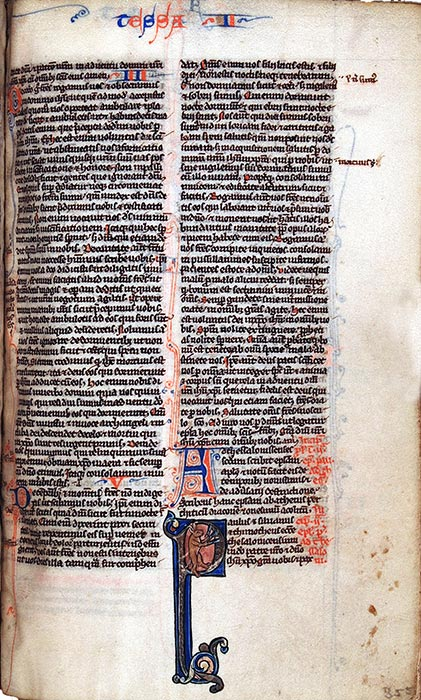 Bible, in Latin. England, thirteenth century. Reed MS2