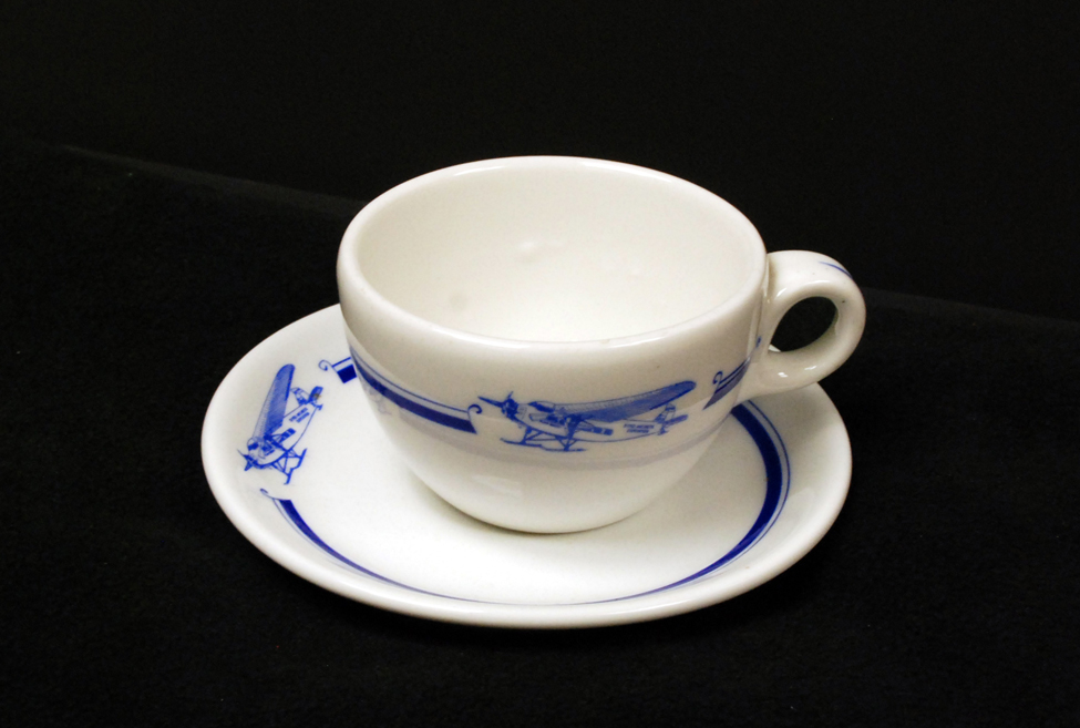 Byrd Expedition cup and saucer, ca. late 1920s to early 1930s.
