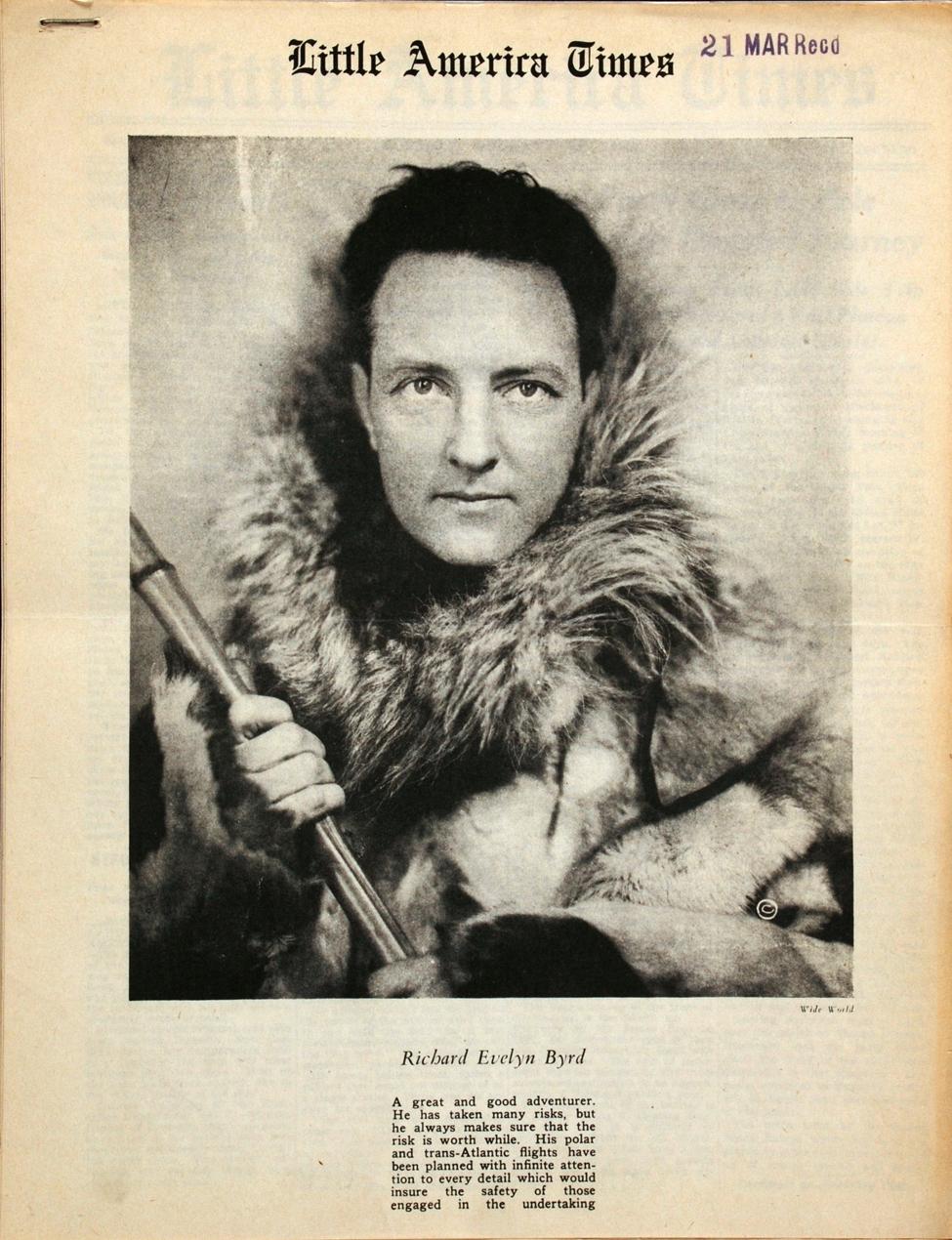 <i>Little America Times</i>. New York: August Horowitz, 31 January 1935.