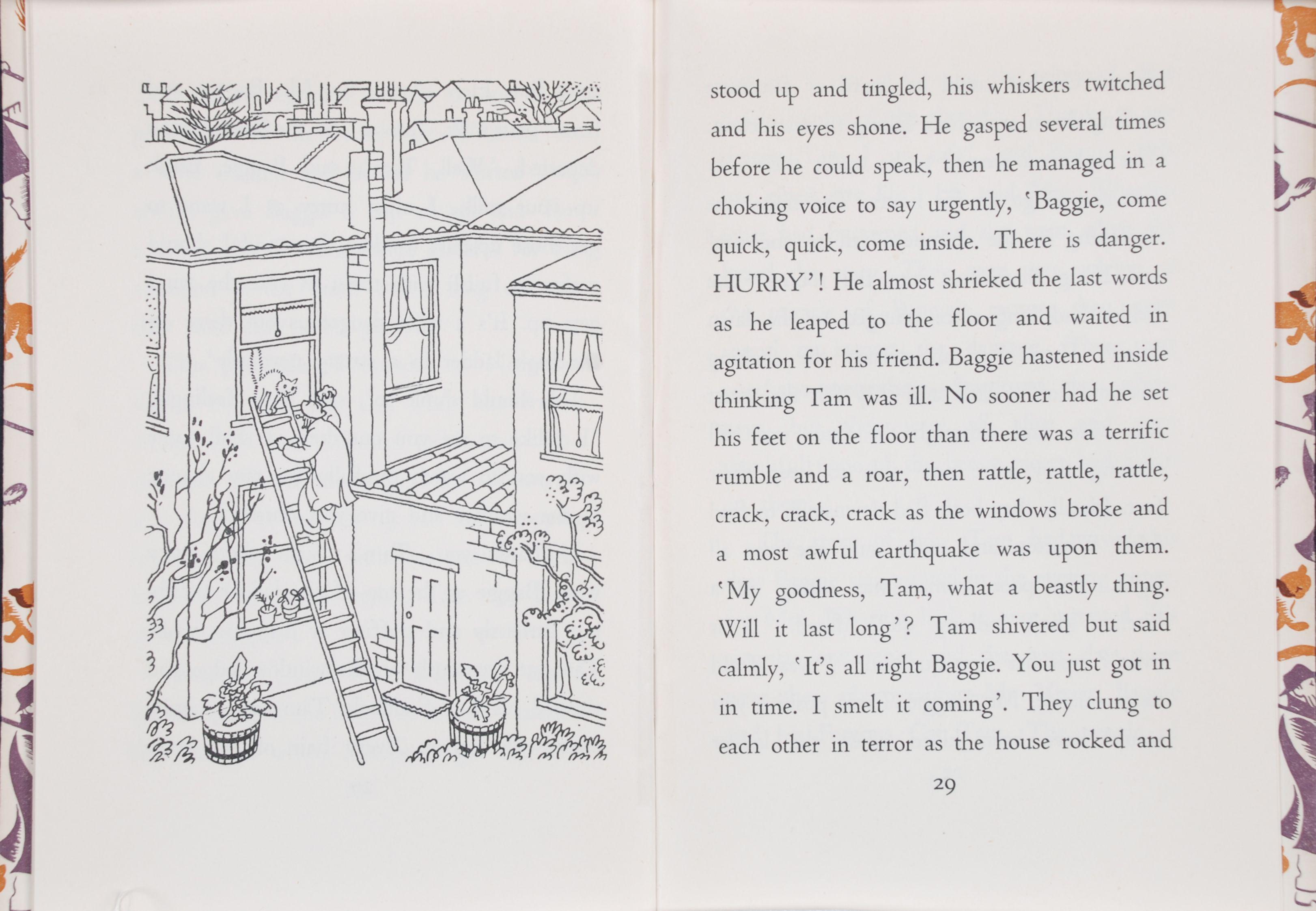 Alexandra Mason. Baggie and his famous cat Tam. Wellington, N.Z.: Progressive Publishing Society, 1944.