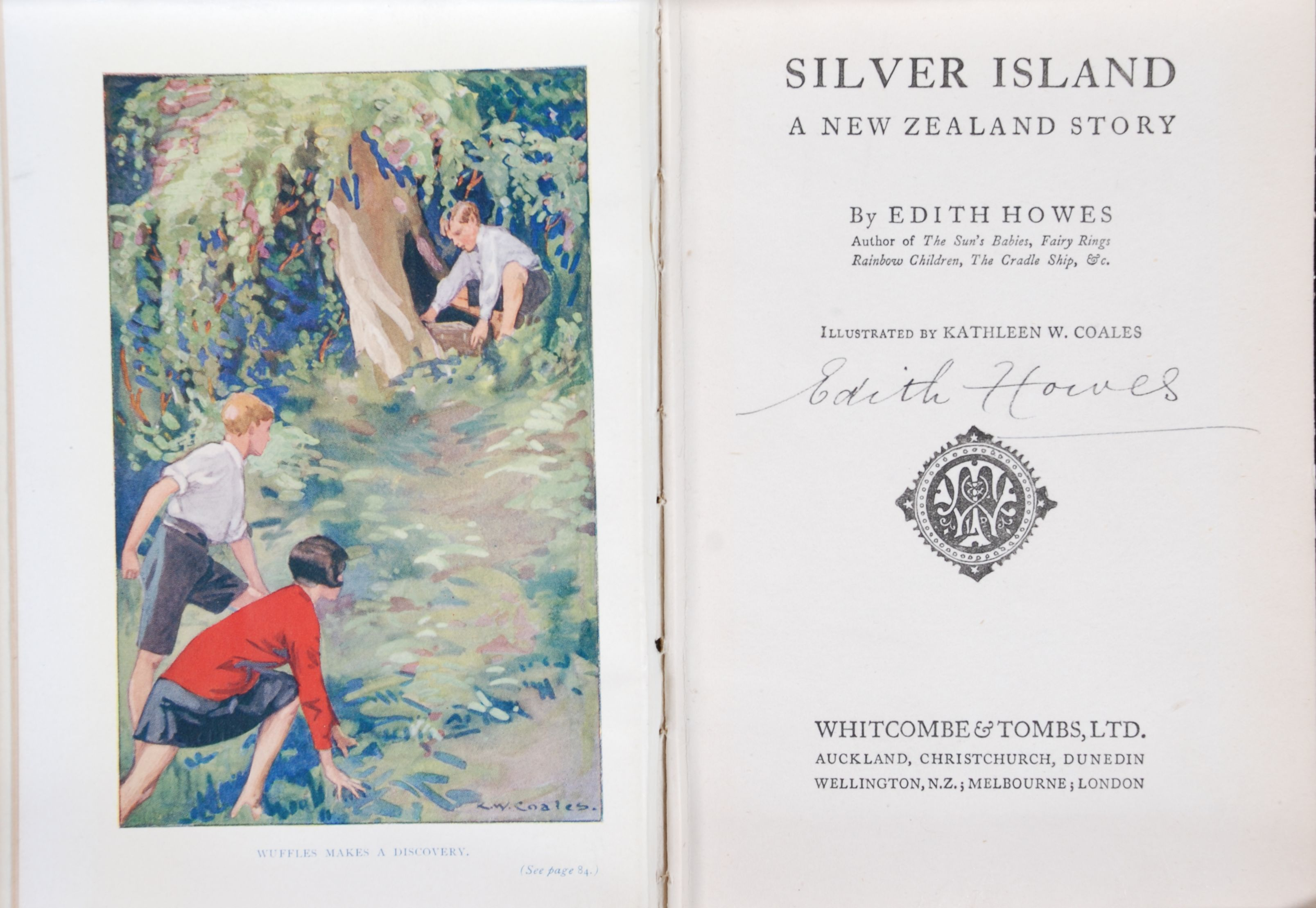Edith Howes. Silver Island : a New Zealand story. Auckland, N.Z.: Whitcombe & Tombs, 1928.