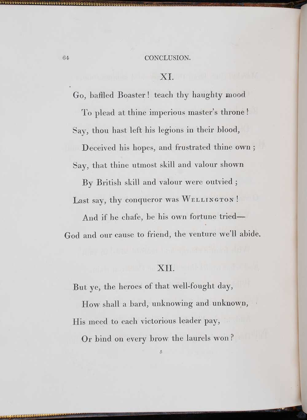 Sir Walter Scott. <em>The vision of Don Roderick: a poem.</em> [1st edition]. Edinburgh: Printed by James Ballantyne and Co. for John Ballantyne and Co., Edinburgh; and Longman, Hurst, Rees, Orme, and Brown, London, 1811.