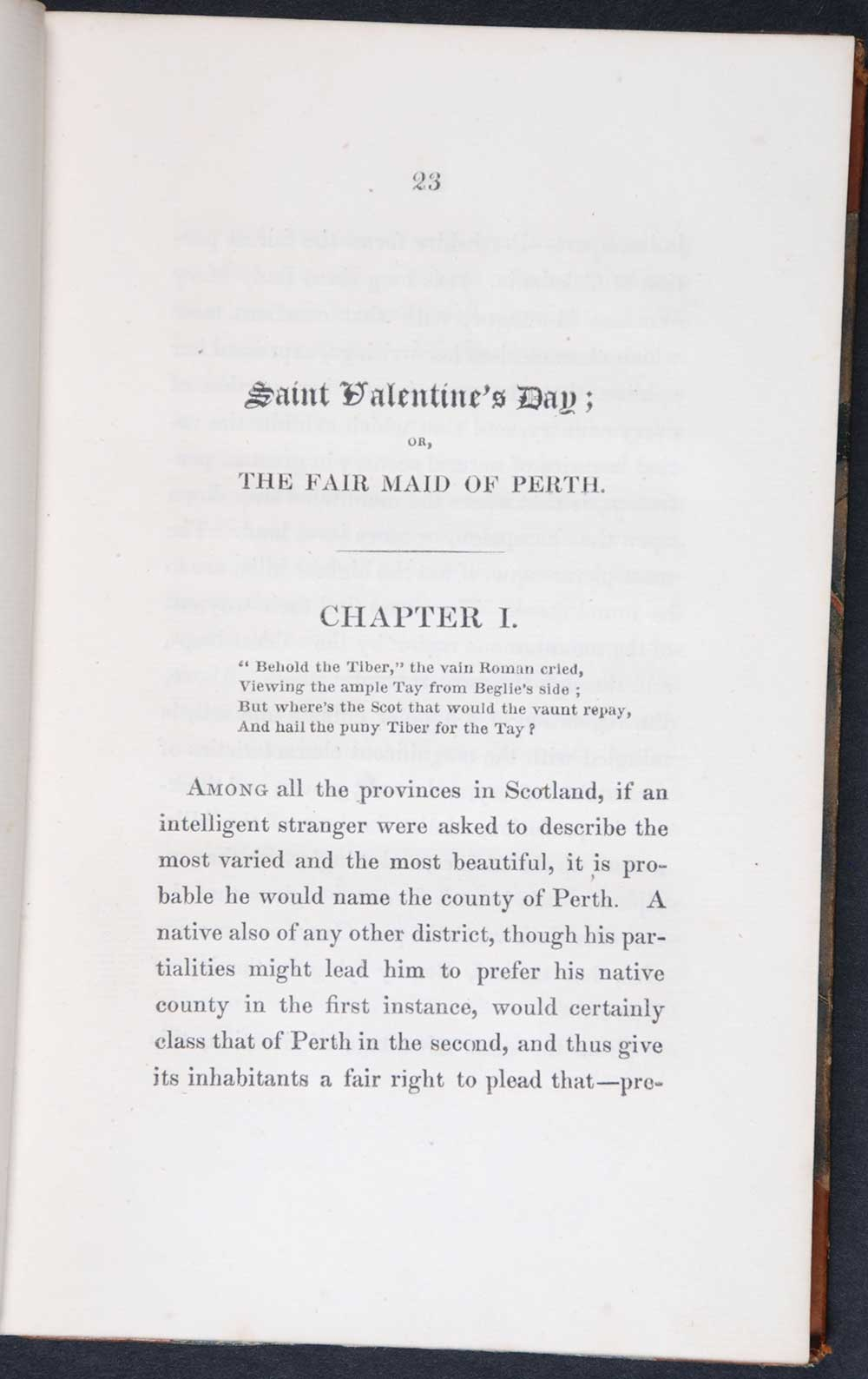 [Sir Walter Scott]. <em>Chronicles of the Canongate: second series.</em> [1st edition]. Edinburgh: Printed for Cadell and Co., Edinburgh; and Simpkin and Marshall, London, 1828. Two volumes; Vol. 1 displayed.