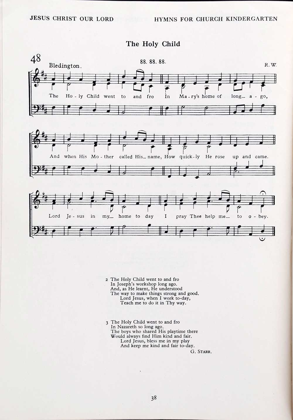Margaret Cropper and A.R.B. Wylam (editors). <em>Hymns and songs for the church kindergarten.</em> London: National Society, Central Council of the Church for Religious Education, [1939]