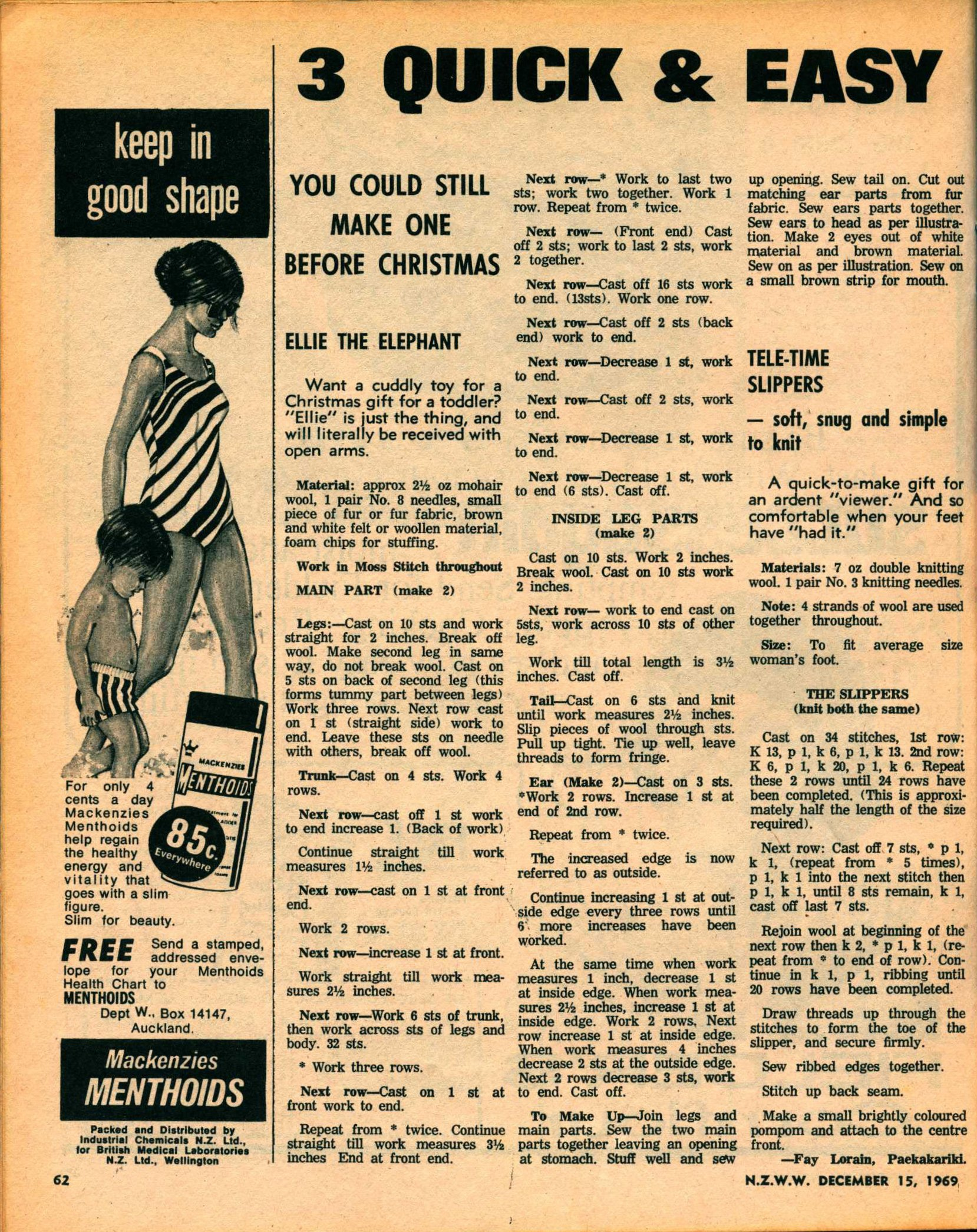 New Zealand Woman's Weekly. December 15 1969.