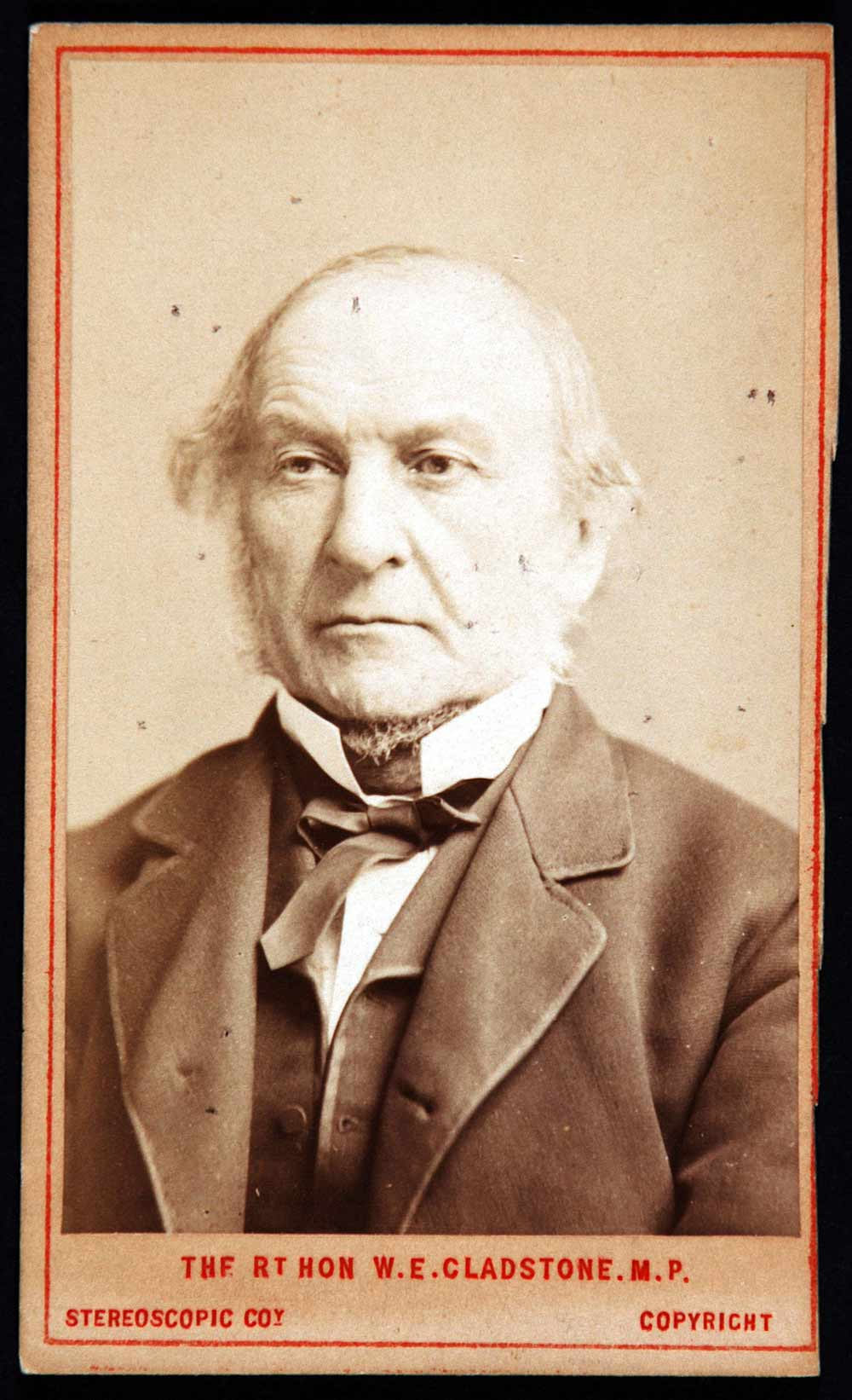 Carte de visite of William Ewart Gladstone by The London Stereoscopic & Photographic Company, undated.