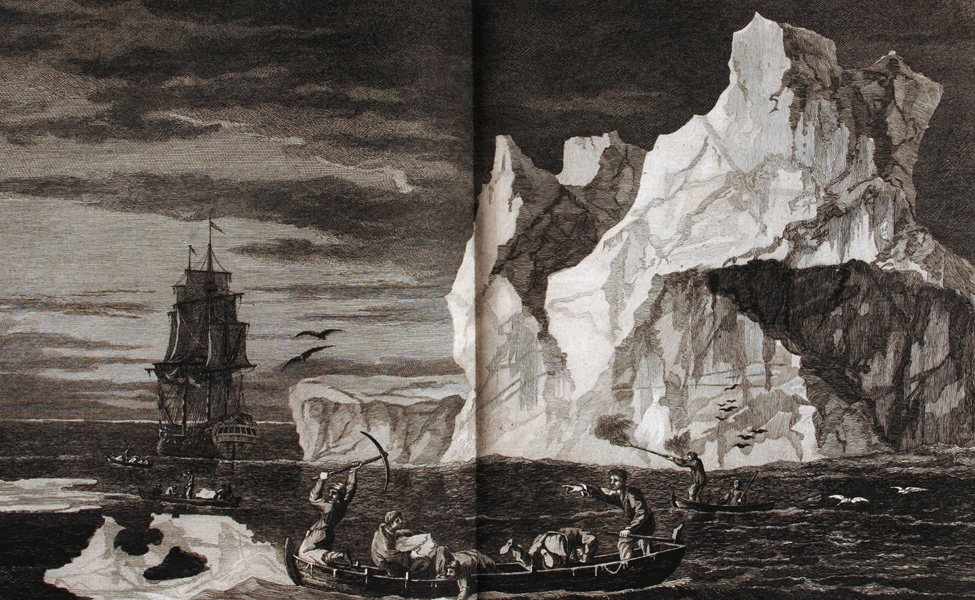 James Cook. A Voyage Towards the South Pole, and Round the World…. London: Printed for W. Strahan; and T. Cadell in the Strand. MDCCLXXVII [1777]. Two volumes, volume one displayed.