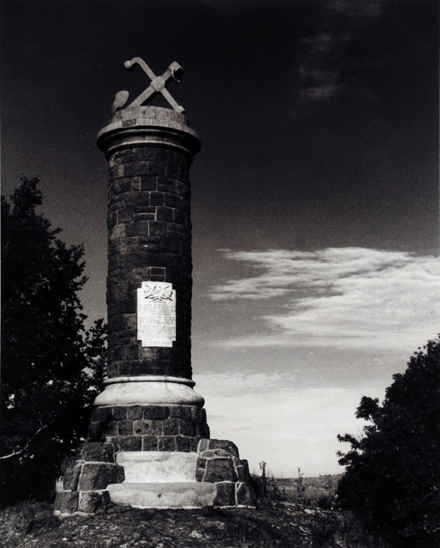 Photograph (copy). The Robert Falcon Scott Memorial overlooking Port Chalmers. Photographer: Stan Wooding, 1997.