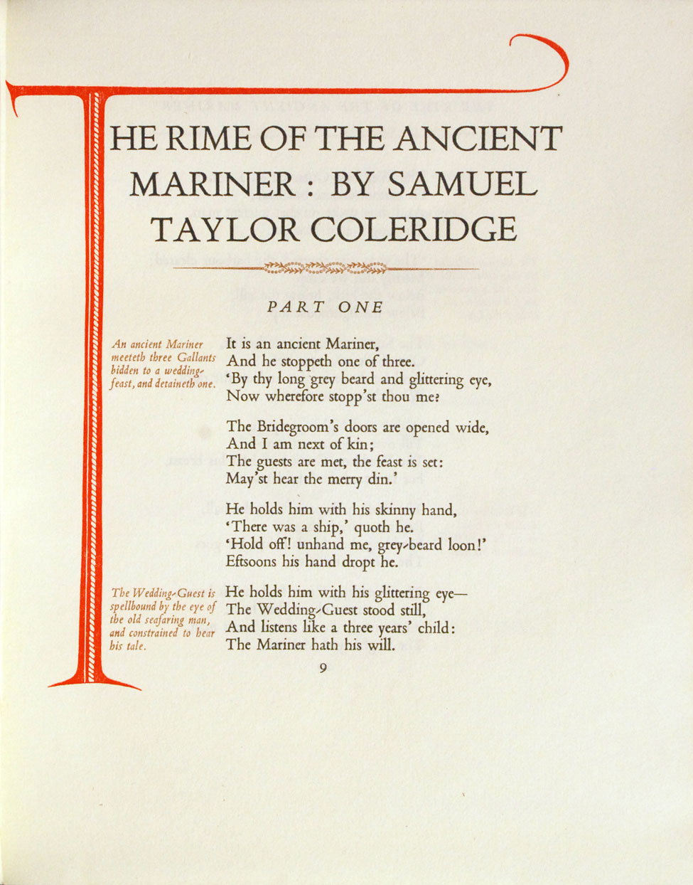 S. T. Coleridge. The Rime of the Ancient Mariner. <i>Christchurch: The Caxton Press, 1952.</i>